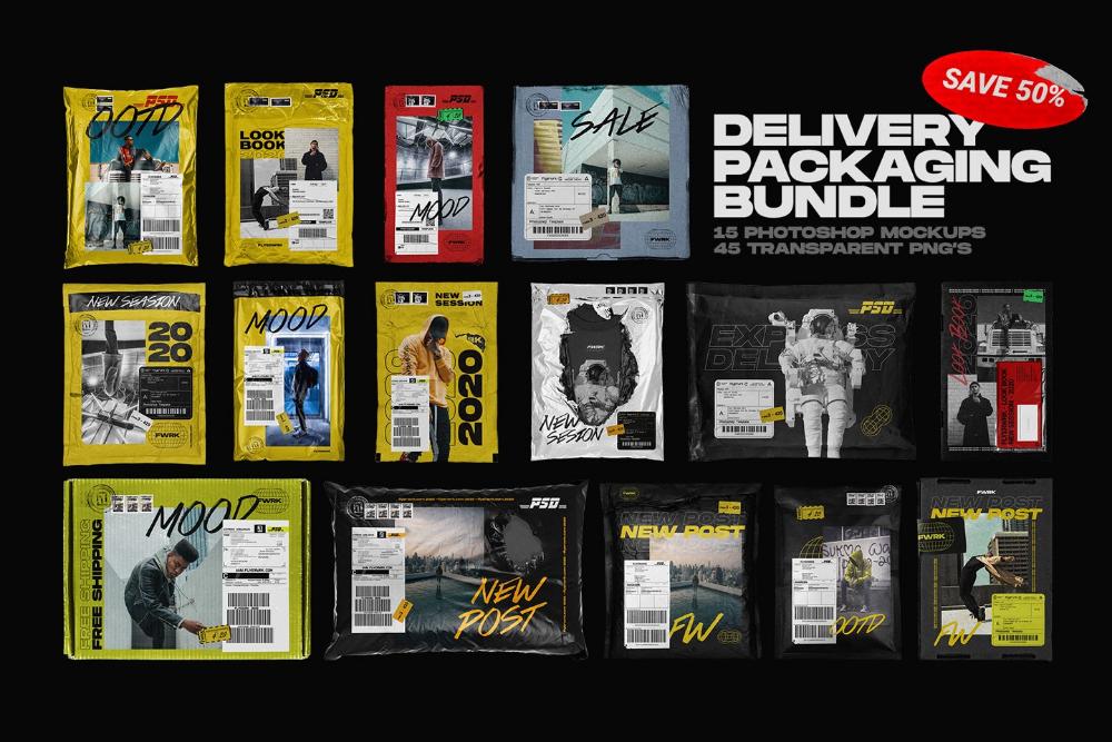 Download Delivery Packaging Mockup Bundle Graphic Design Resources Packaging Mockup Photoshop Mockup