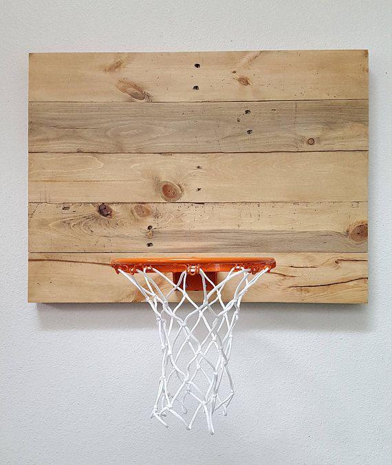 Pallet Wood Basketball Goal. Indoor Wall Mounted