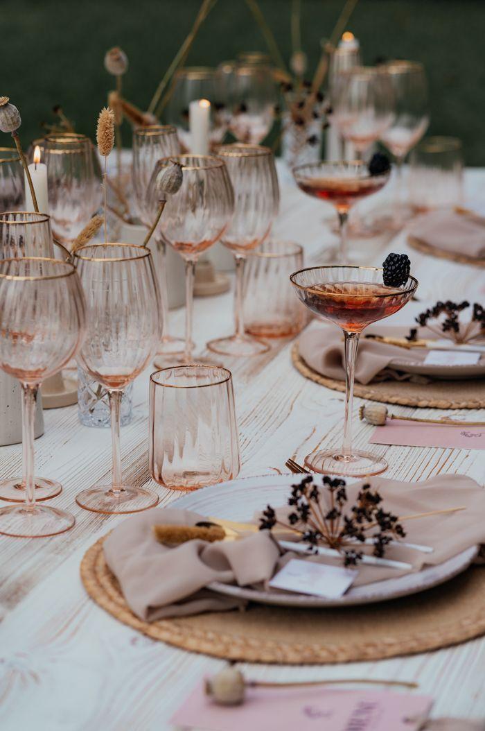 This Modern Romantic Mallorca Estate Wedding Inspiration is a Luxe Boh