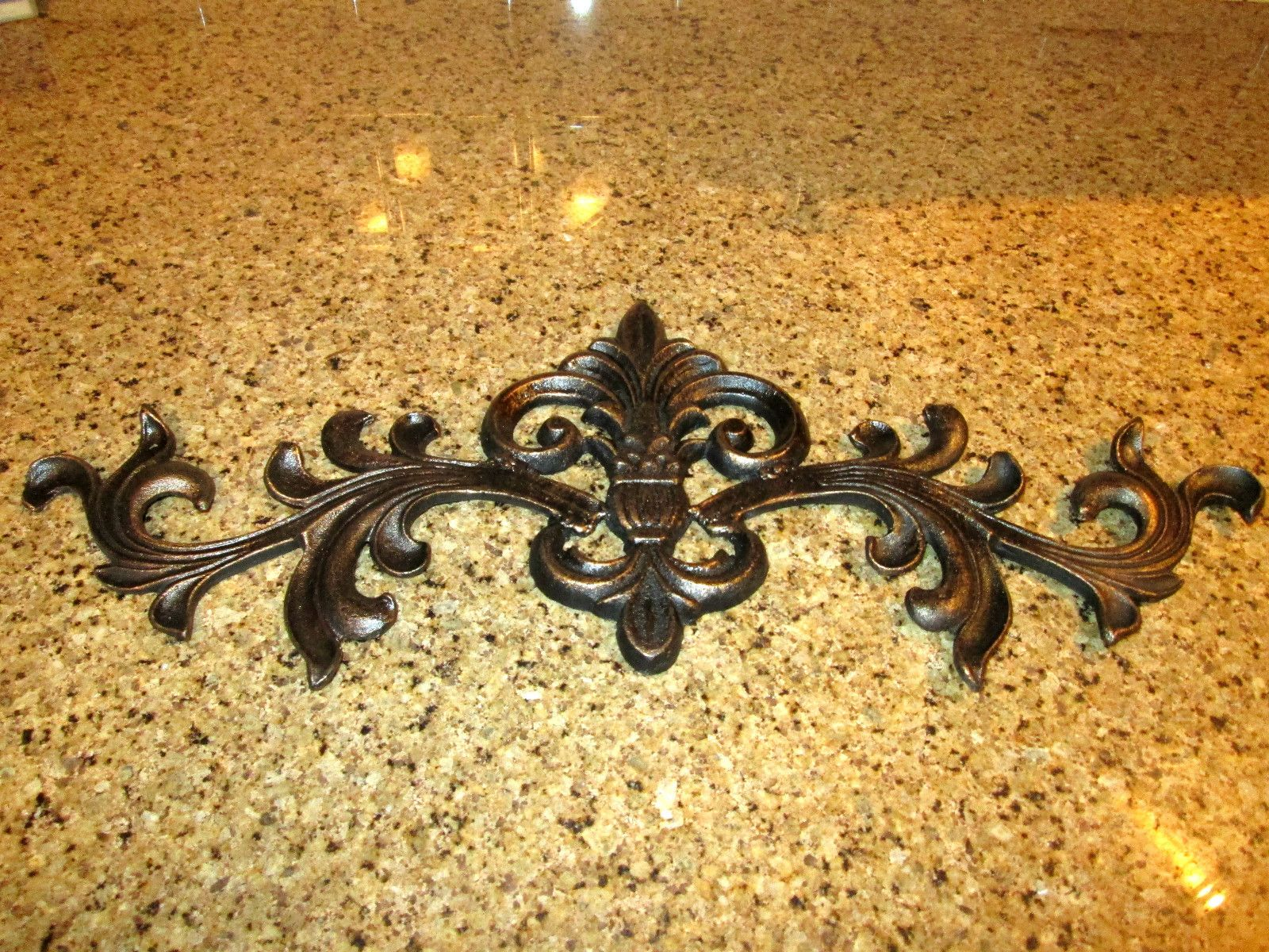 Fleur de Lis iron topper. Hand made and hand painted. Old World ...