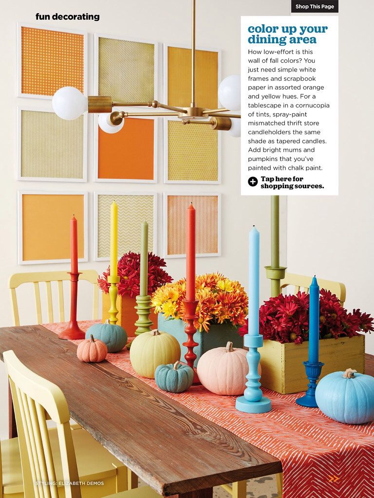 I saw this in the October 2015 issue of HGTV Magazine.   Love the easy colorful wall  http://bit.ly/1mzvglC