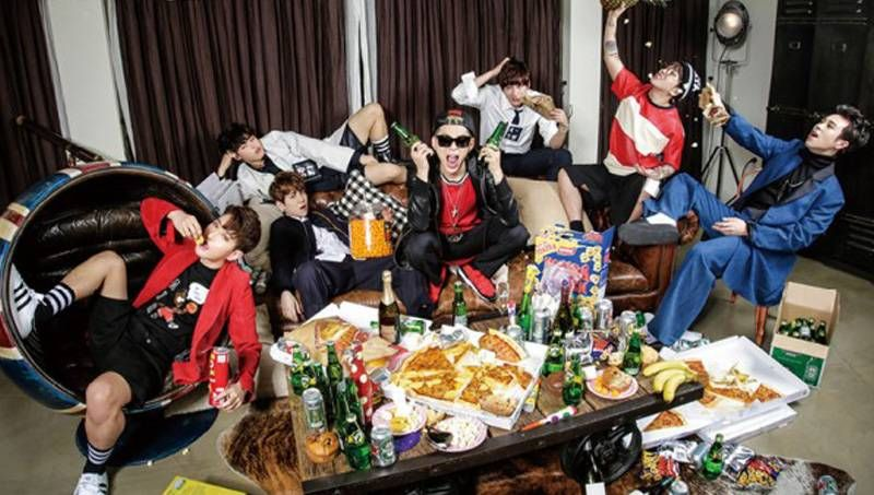 to Block B's 'house party' with 'The Celebrity