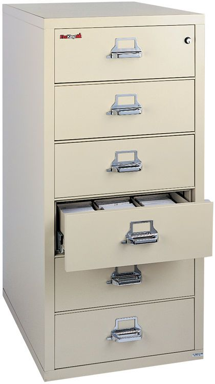 6 Drawer Card And Check File With 2 Section Inserts By Fireking Filing System Filing Cabinet Office Furniture Modern