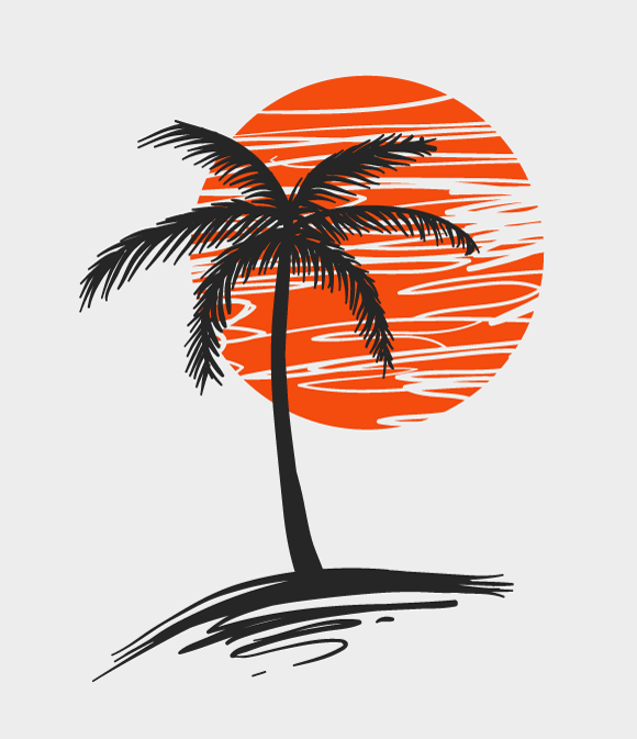 Calming Waves Massage And Wellness Palm Tree Art Coconut Tree