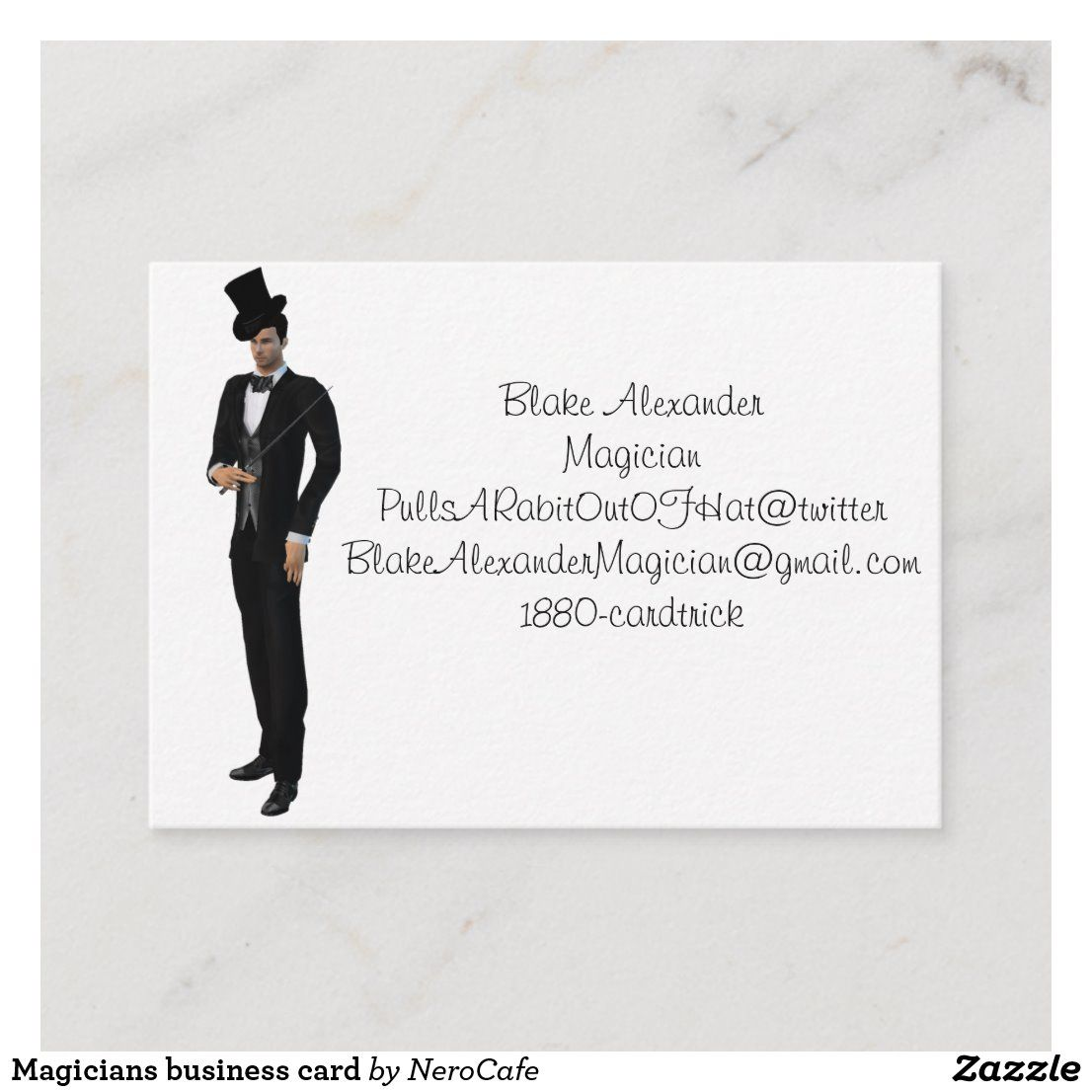 Magicians Business Card Zazzle Com In 2021 The Magicians Modern Business Cards Cards