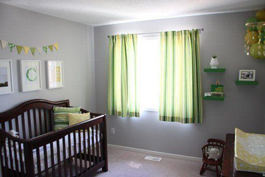Caleb S Grey Green Yellow Nursery Green Nursery Boy Green