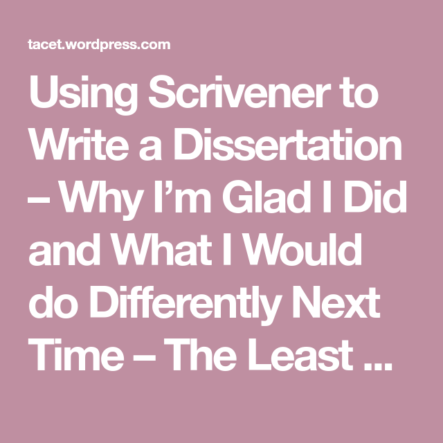 How to write a dissertation in one day