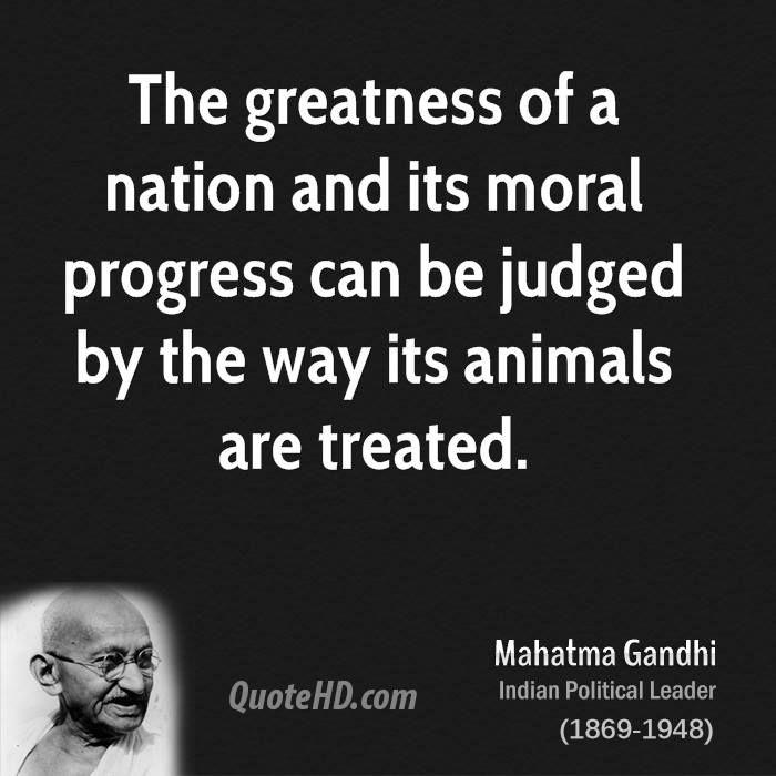 Mahatma Ghandi Uate: Gandhi Animals Quote - Google Search