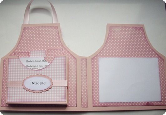 Project And Free Template Apron Recipe Card And Holder Recipe Cards Cards Handmade Recipe Card Holders