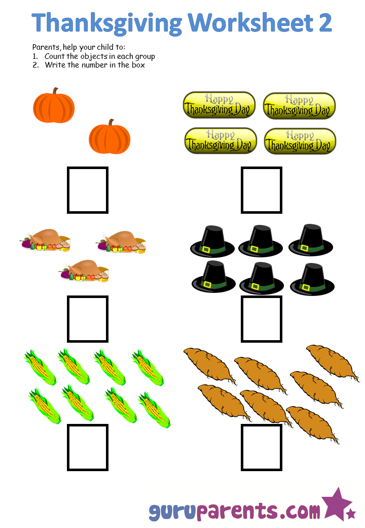 Thanksgiving Worksheets Kindergarten Math Math Counting Worksheets Kindergarten Math Worksheets