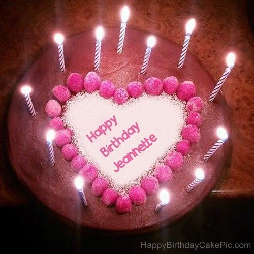 Heart Birthday Cake Wishes With Name Candles Cakes