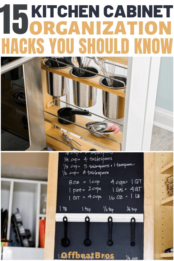 15 MindBlowing Ways to Organize Kitchen Cabinets - Kitchen cabinet organization, Small kitchen organization, Kitchen organization, Kitchen cabinets, Cabinets organization, Small kitchen cabinets - If you've stuggled to keep kitchen cabinets organized, you are not alone  But, these brilliant hacks will help you easily organize your Kitchen cabinets