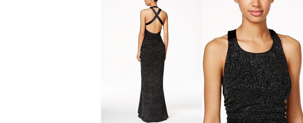 Calvin Klein Glitter Halter Gown - Dresses - Women - Macy's