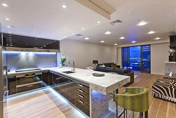 Neon Beleuchtung im Küchenbereich - 12 originelle Ideen für Ihre - beleuchtung wohnzimmer ideen