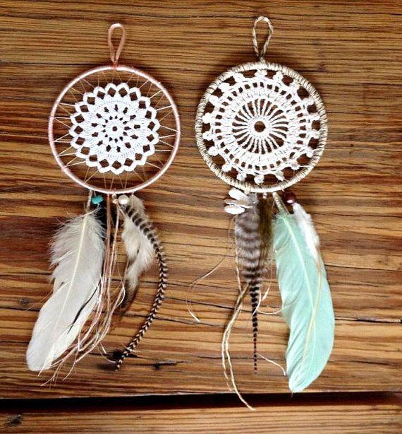 Custom Handmade BOHO Dreamcatchers: Crochet Doily por ...