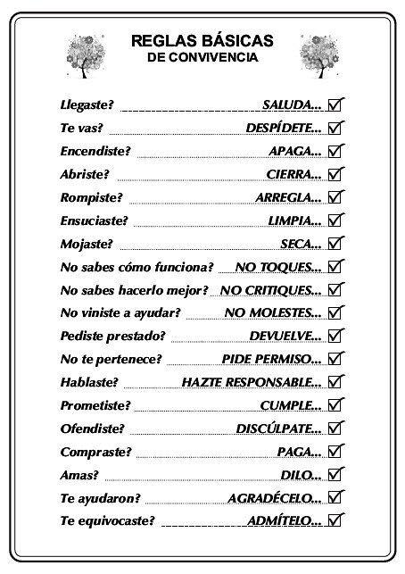Reglas Basicas Para De Convivencia Foros Peru Reglas Basicas