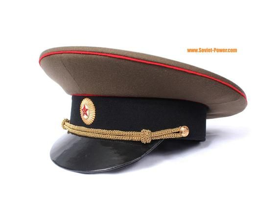 5d34e13eb Soviet Army Officer Russian visor cap with badge | Products | Visor ...