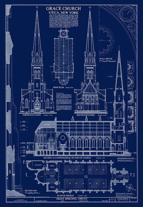 Grace church blueprint art print by daniel hagerman pinterest grace church blueprint print by daniel hagerman malvernweather Images