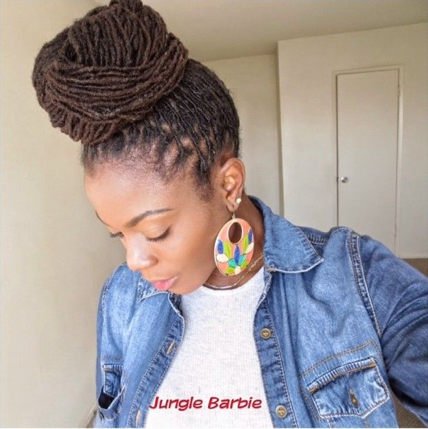 Get this fab look with #locs #naturalhair Loved By NenoNatural! #naturalhairstyles #curlyhair #kinkyhair #nenonatural #vlogger #blogger #hairblogger