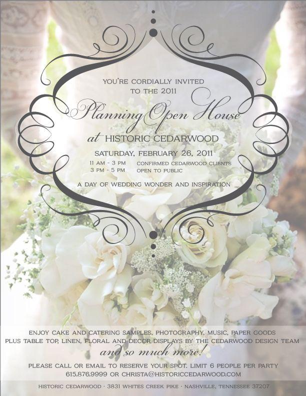 Open House Wedding Reception Ideas Wedding Decor Ideas