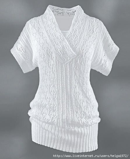 "Knitting - Free Pattern: ""Tunic"" - Level: easy."