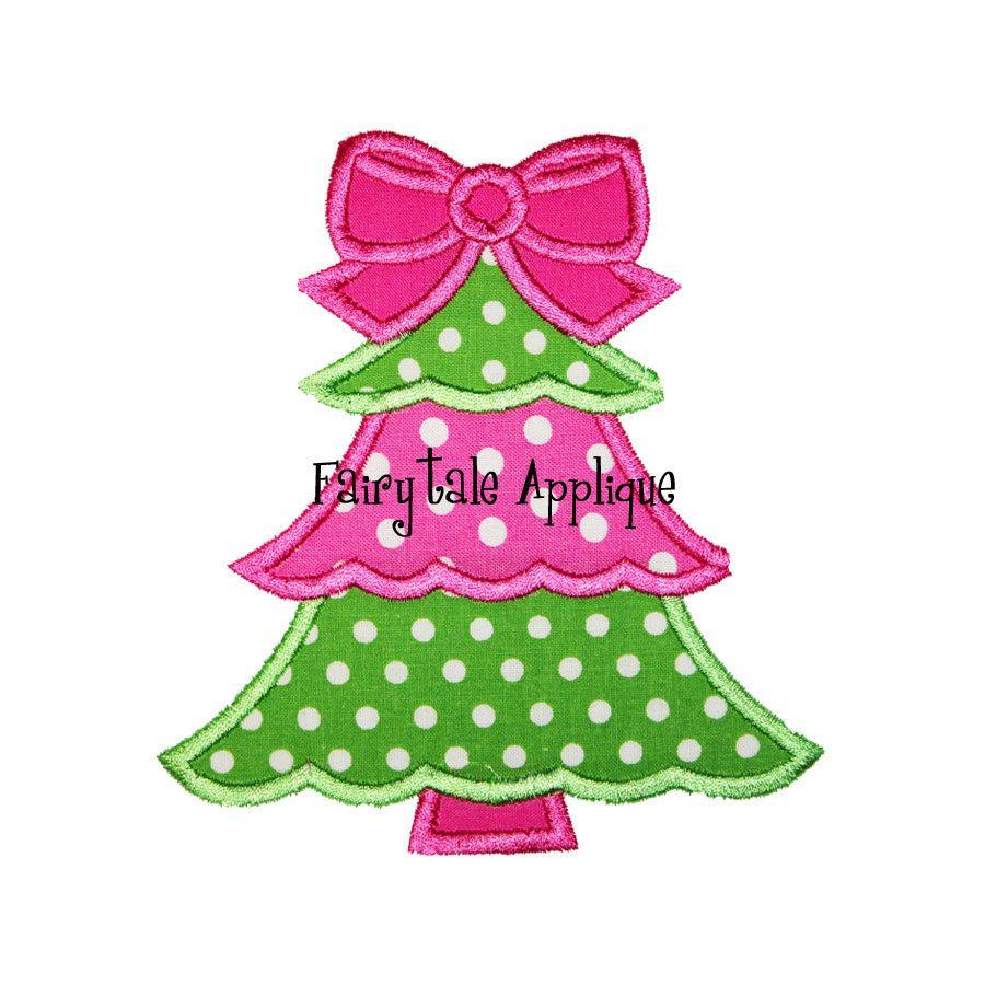 Digital Machine Embroidery Design Girly Christmas Tree Applique Manualidades Bordado Navidad Maquinas De Bordar