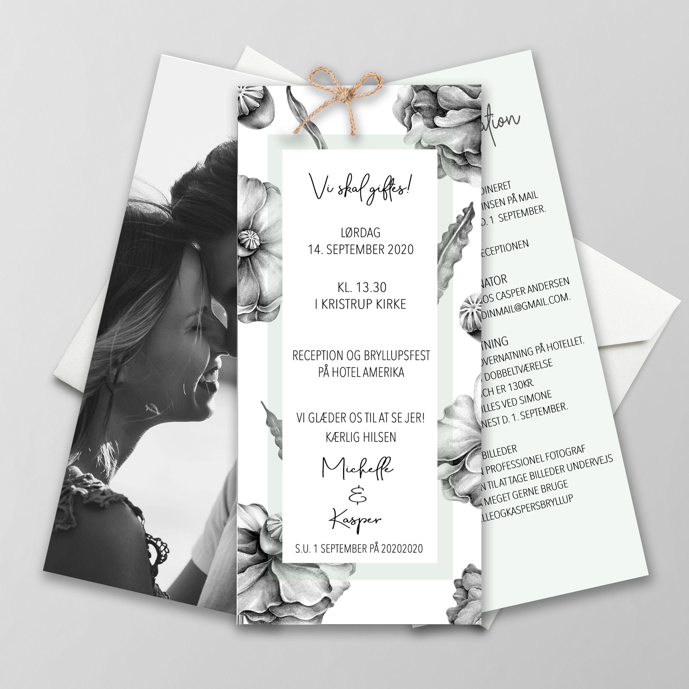 Playish Greyish I 2020 Bryllupsinvitation Bryllupsinvitationer Invitationer