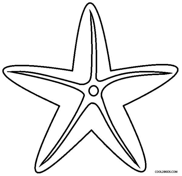 Printable Starfish Coloring Pages For Kids