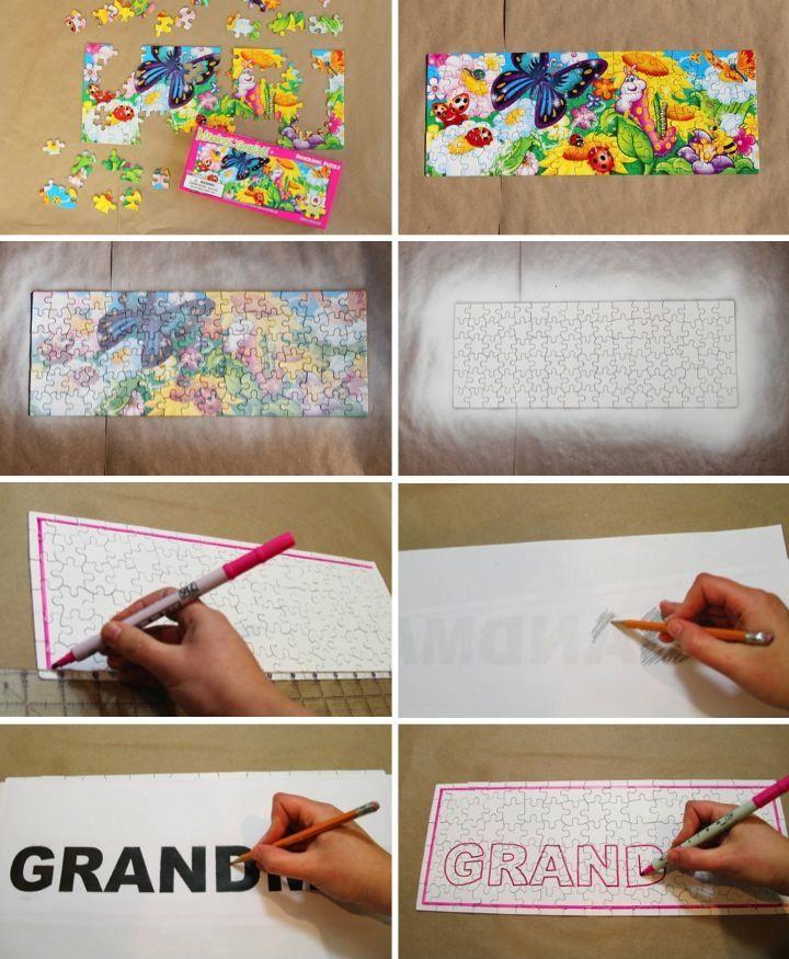 Diy puzzle birthday gift for grandma blog