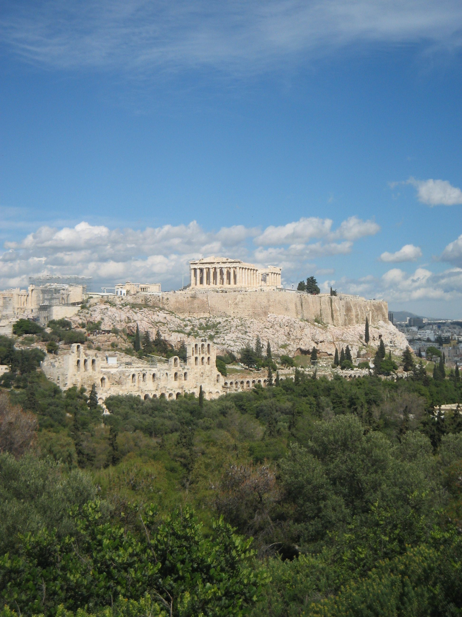 Athens Greece View Of The Acropolis From Filopappos Hill Phil S Hill Places To Travel Athens Athens City