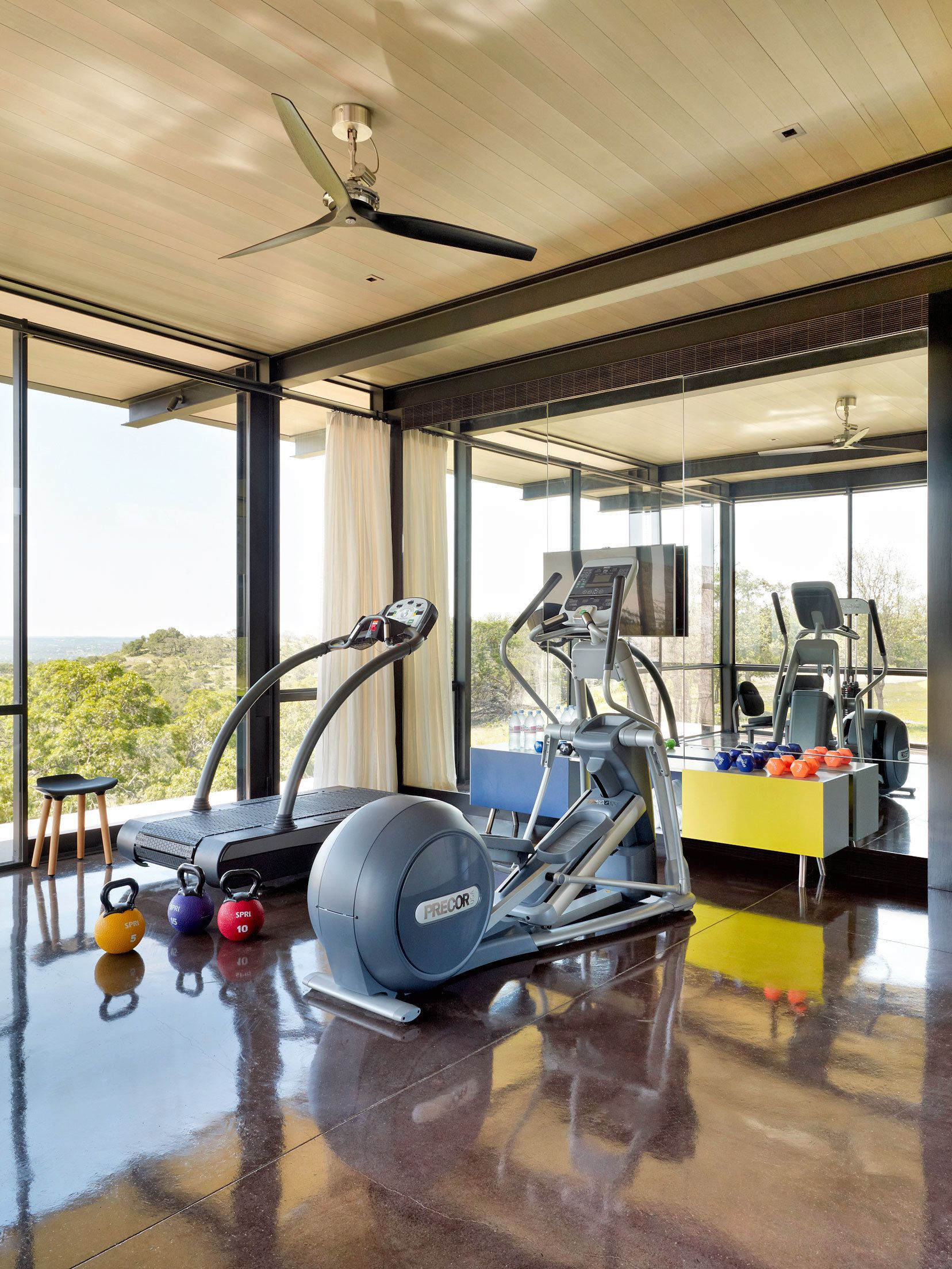 10 Home Gyms That Will Inspire You To Sweat Gym Room At Home Home Gym Design At Home Gym