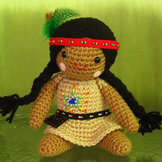 Amigurumi Native American Doll--img.heavy - CROCHET   Homemade dolls ...