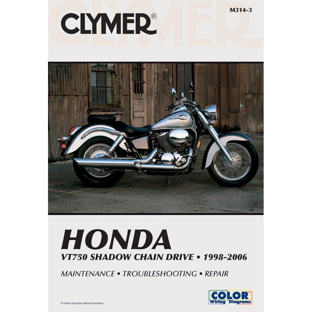 Clymer Honda Vt750 Shadow Chain Drive 1998 2006 Honda Shadow Honda Chain Drive