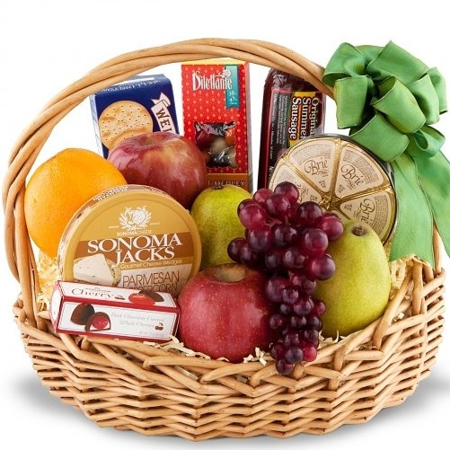 Deluxe Fruit Gourmet Basket 4 Sizes Same Day Gift