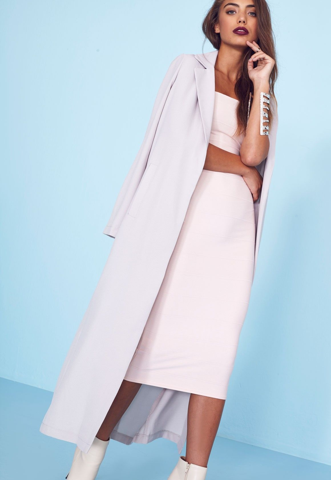 1795d641b6 Missguided Long Sleeve Maxi Duster Jacket Grey | My Style | Duster ...