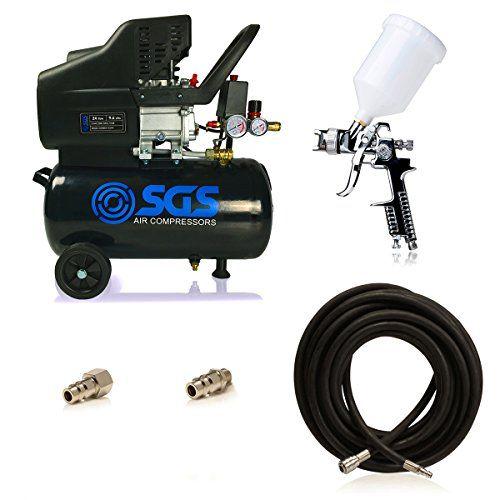 24 Litre Air Compressor Amp Spray Gun Kit Sgs Engineering