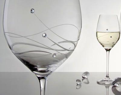 Swarovski Elements White Wine