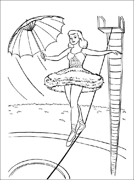 Coloring Page With A Circus Acrobat Coloring Pages Coloring 3