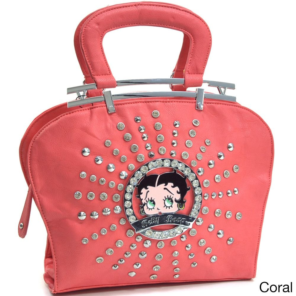 7a374b8c4b6d Betty Boop Rhinestone and Studs Shoulder Bag