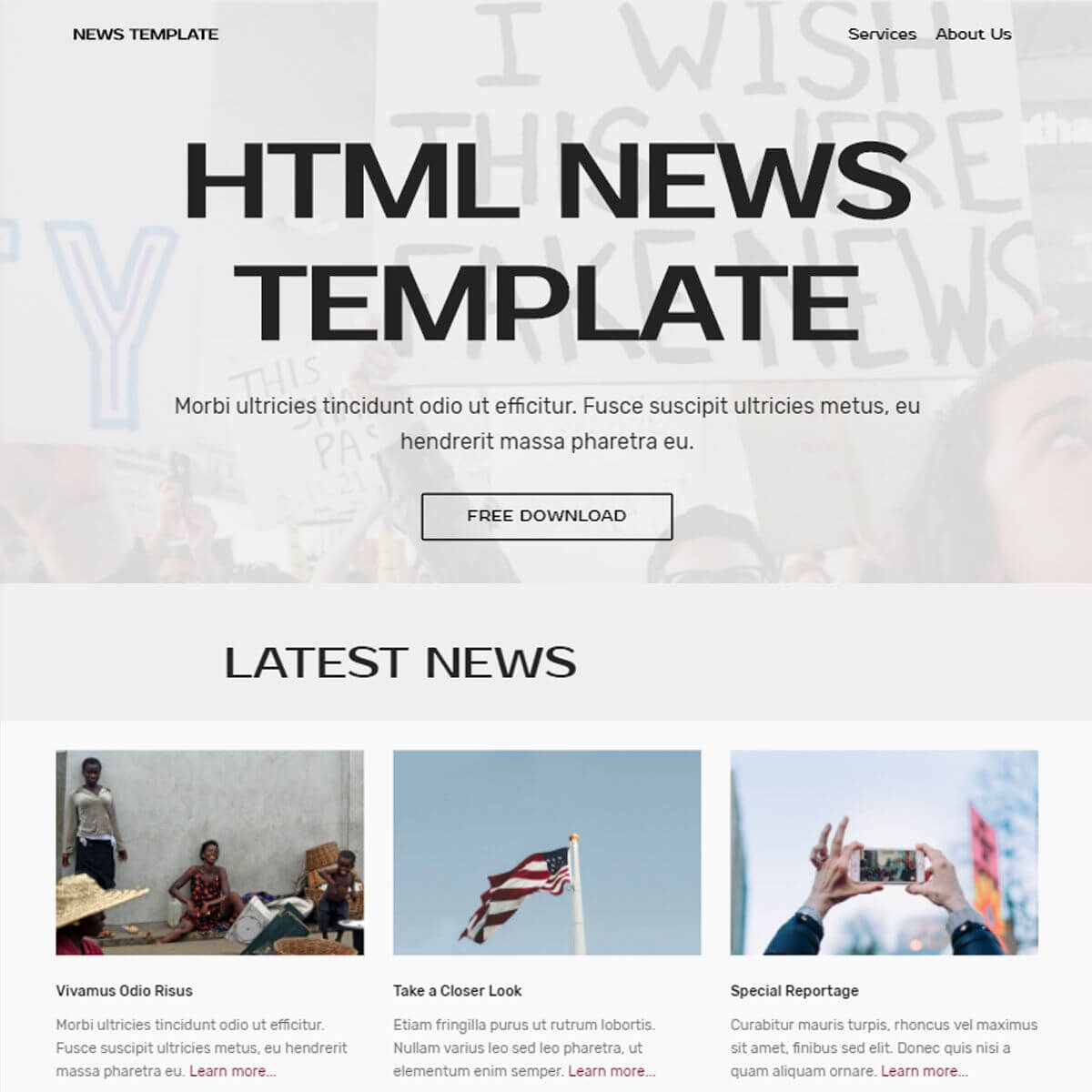 Html Bootstrap News Template Free Download Templates Bootstrap Template Templates Free Download