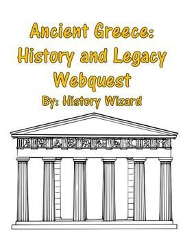 ancient greece history and legacy webquest ancient greece lesson plans webquest ancient greece pinterest