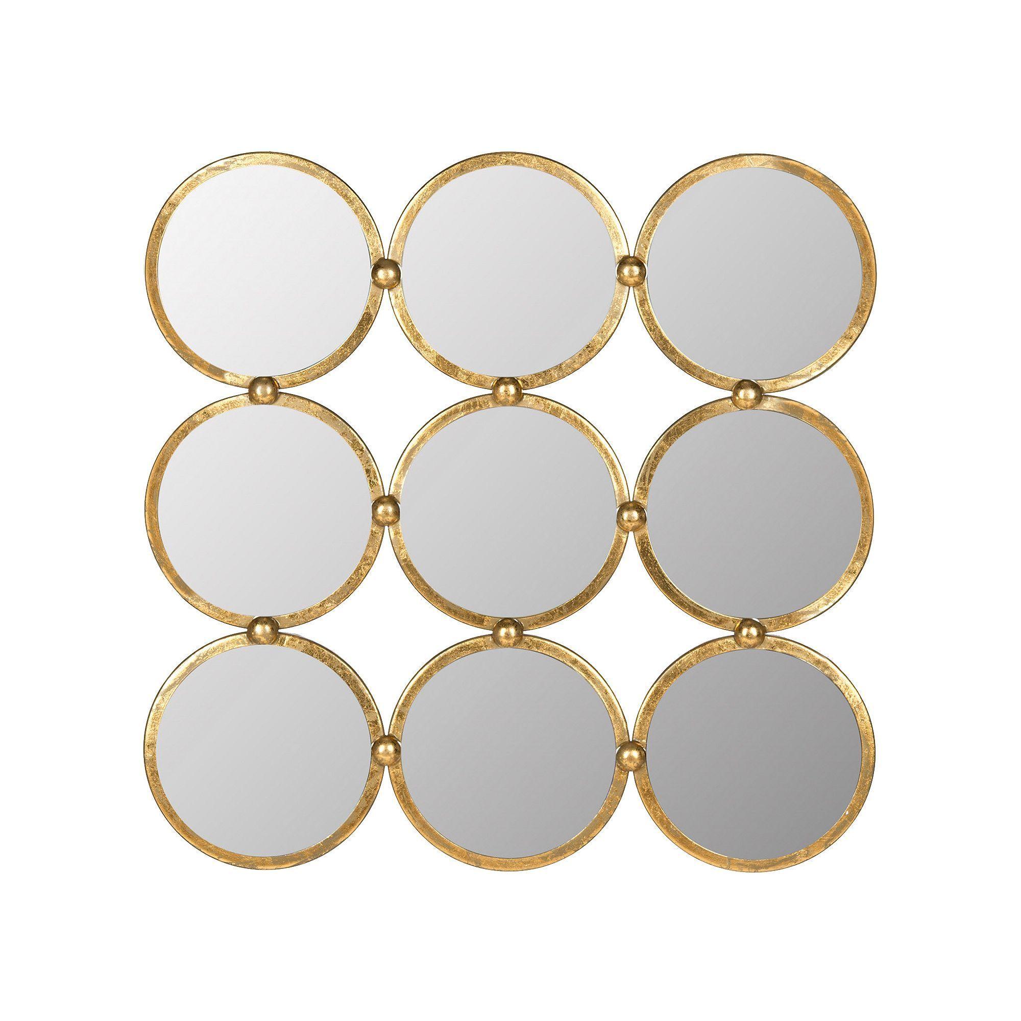Safavieh Circles In Square Wall Mirror Mirror Circular Mirror