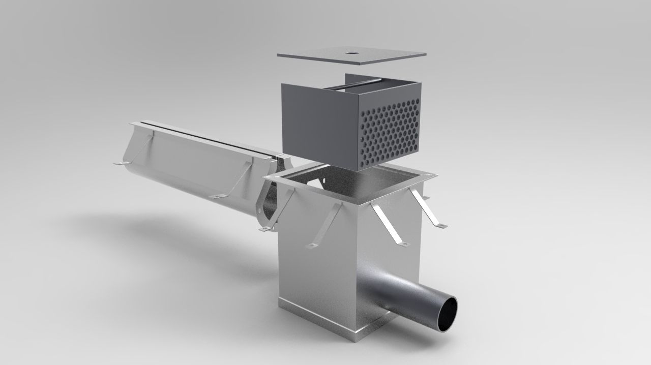 Stainless Steel 9000 Series Slot Drain Drain Features A Flushing