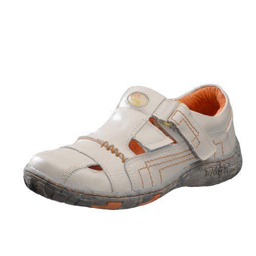 TMA Schuhe 1399 Sandalette Ballerina Gr.36-42 echt Leder mit perforiertem Lederfußbett in Weiß Gr. 37 p7sdk
