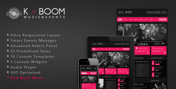 K-BOOM - Events & Music Responsive WordPress Theme | Event marketing ...
