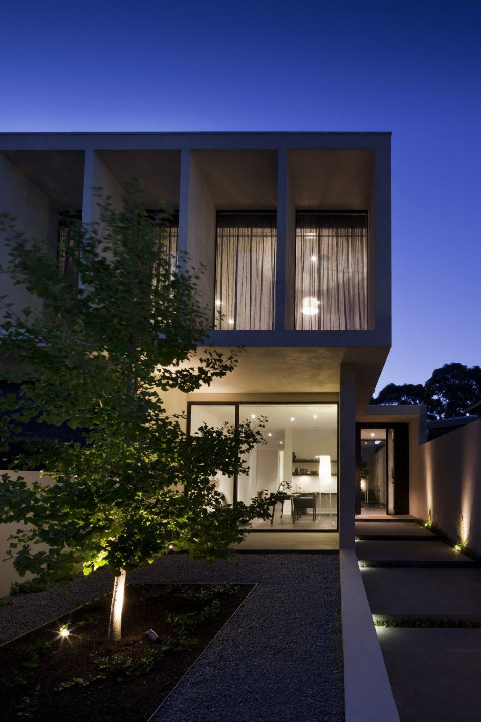 Exterior design for home  Evening View Gorgeous House Oriented Towards Sustainable Design