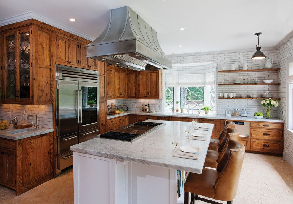 See through refrigerators kitchen rustic with leaded glass ...