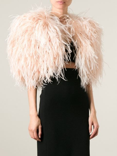 Ostrich feather bolero by Daizy Shely Worn by Chanel Oberlin - Episode 4