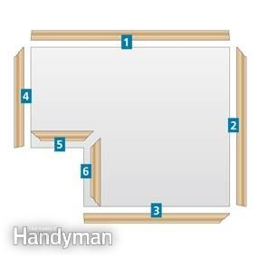 This Three Piece Crown Molding Technique Simplifies Installation And The Results Are Spectacular Trim Carpentry Molding Installation Home Diy