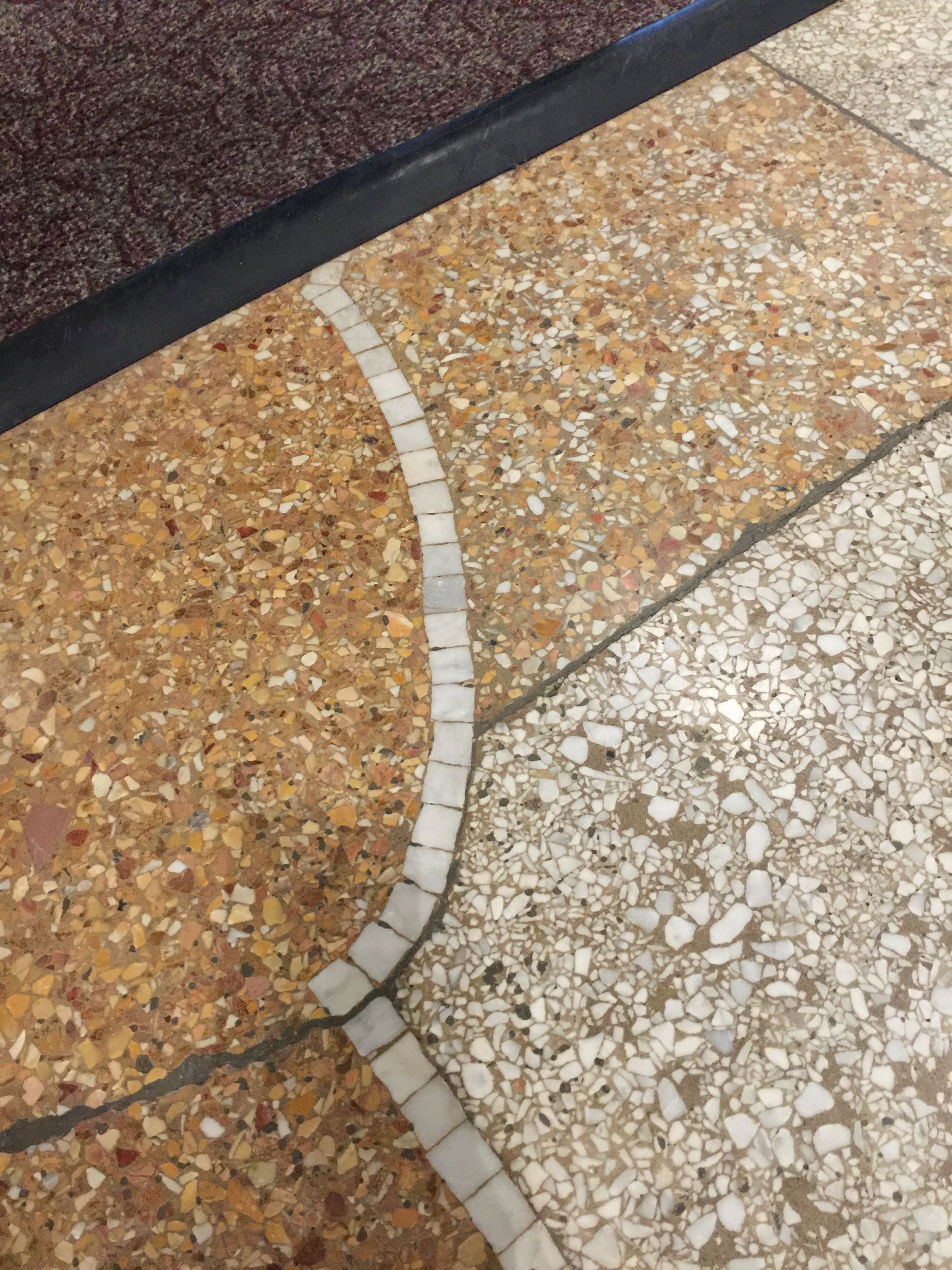 Today Is National Retro Day Photo Is Of Terrazzo Flooring